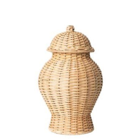 Wicker ginger jars on sale.   #LTKstyletip #LTKhome #LTKunder100