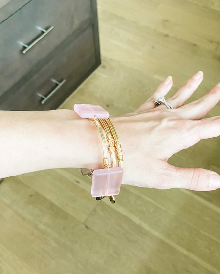 Pink stone bangle bracelets / gold bangles / arm stack jewelry / 15% off with code karen   @liketoknow.it http://liketk.it/3k73R #liketkit #LTKunder50 #LTKsalealert #LTKunder100