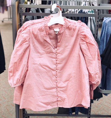 Target Fall Clothes - New Arrivals! A New Day Puff Short Sleeve Button-up Blouse / Workwear Inspiration | Target, autumn style, fall style, target style #targetstyle #LTKFall #fall fashion #liketkit #LTKstyletip #LTKunder50 #LTKworkwear  #LTKunder50 #LTKstyletip #LTKworkwear