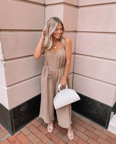 The lightweight jumpsuit you need for summer Shop your screenshot of this pic with the LIKEtoKNOW.it shopping app http://liketk.it/3jWBK @liketoknow.it #liketkit #LTKstyletip #LTKunder100 #LTKunder50