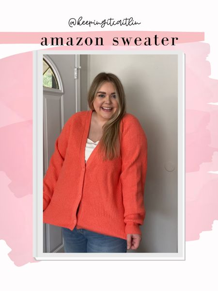 Amazon cardigan. Super cozy! Same style as grey. Wearing xxl    #LTKSeasonal #LTKcurves #LTKunder50
