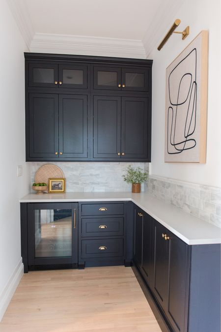 Dry bar, kitchen, marble, countertops, cabinets   #LTKhome #LTKfamily #LTKstyletip