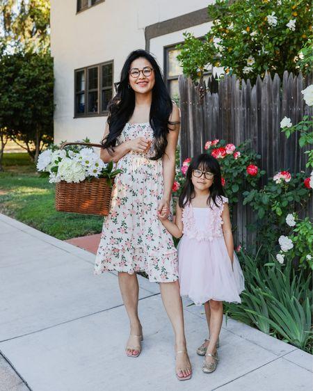 Floral dress for summer and toddler pink tulle dress   #LTKfamily #LTKSeasonal #LTKkids