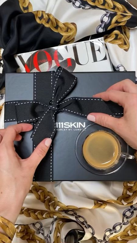 this gorgeous 111SKIN x CosBar skincare kit is perfect way to discover brand's best sellers 🤍 the kit features 2 face masks and 3 deluxe samples of an eye cream, serum, and face cream - packaged in a durable makeup bag 🖤  #LTKbeauty #LTKHoliday #LTKGiftGuide