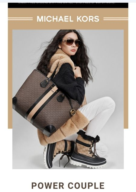 Fall is here! Time for the right pieces to your wardrobe from Michael Kors.    POWER COUPLE - The key pieces for a life on the go? A roomy tote that fits all your tech and boots ready to withstand unpredictable weather. Great for gifs for others or yourself.   #michaelkors #ltkgiftguide #combatboots #designerbag #totes #designertotes #ltkholidays #holidayshopping #fallweather #winterweather #boots #fallfashion #winterfashion   http://liketk.it/3qpkG @liketoknow.it #liketkit