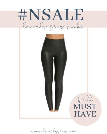 The spanx faux leather leggings are a must have for fall!   #LTKstyletip #LTKsalealert #LTKSeasonal