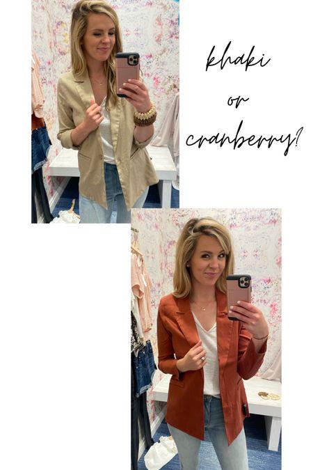 These linen feel blazers are the perfect light layer for the summer!! http://liketk.it/3hTIx #liketkit @liketoknow.it #LTKworkwear #LTKstyletip #evereve #evereveambassador #style #blazer