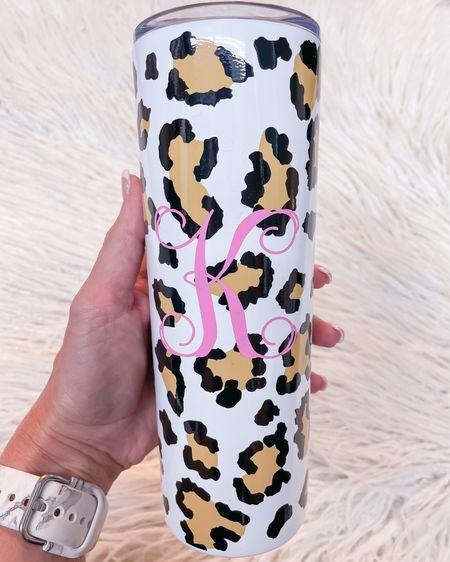 Skinny tumbler animal print / pool cup / monogrammed / gift idea http://liketk.it/3jl25 #liketkit @liketoknow.it #LTKsalealert #LTKunder50 #LTKhome