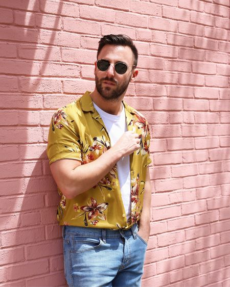 """Flowers for Spring? Yes. The answer is always yes. @riverislandman has the best selection of floral shirts just in time for the """"it feels like summer already"""" weather http://liketk.it/2vFng #liketkit @liketoknow.it #imwearingri"""