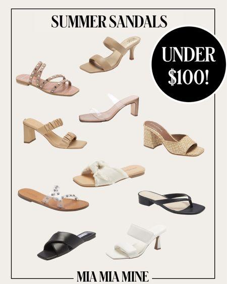 Summer sandals under $100 #summer   #LTKunder100 #LTKstyletip #LTKshoecrush
