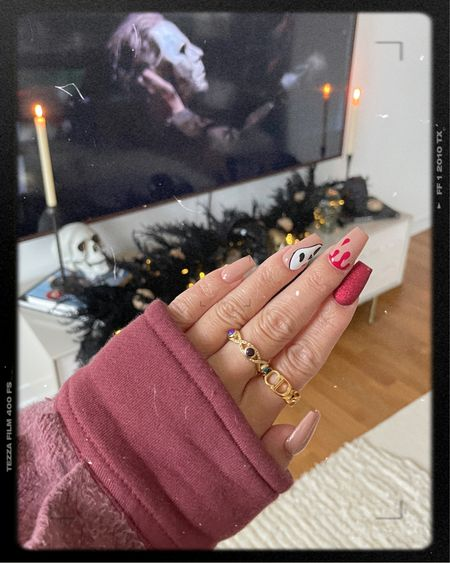 Halloween nails nail inspo Halloween decor spooky home decor skulls    #LTKSeasonal #LTKstyletip #LTKunder50