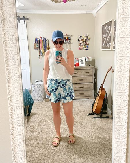 Baseball mom reporting for duty! Honestly baseball is one of my favorite sports to watch! Just a couple games left in the season for our boys and it's been so fun!  This tie dye shorts are so comfy. And a hat for this summer heat and humidity is a must!  Shop the look: http://liketk.it/3hi1B  Or find me on the @liketoknow.it app    #liketkit #LTKunder50 #LTKstyletip #LTKcurves