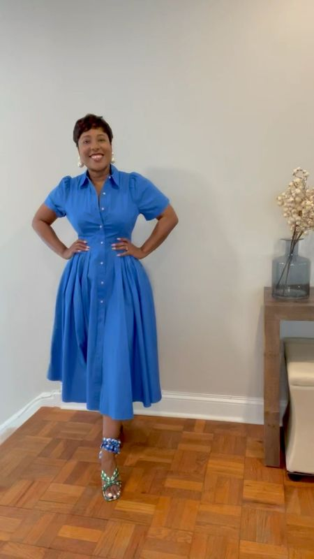 In motion Blue shirtdress gingham wrap sandals #targetstyle #alexisxtarget #alexis #circledress #vintage this dress fits true to size has full circle skirt with no lining #competition  #LTKstyletip #LTKunder100 #LTKSeasonal