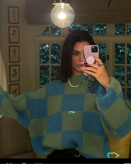 Kendall Jenner chunky sweater @liketoknow.it #liketkit http://liketk.it/3gXy1 #LTKstyletip #LTKunder50 #LTKDay