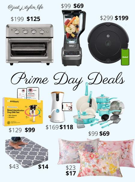Amazon Prime Day deals - Home. Amazon finds. Toaster oven, Ninja Blender, iRobot vacuum, pet DNA test, Furbo, kitchen pots and pans set, kitchen mat, floral satin pillow cases. Found on Amazon, Amazon Prime, Amazon deals. http://liketk.it/3i5H4 @liketoknow.it #liketkit #LTKsalealert #LTKunder100 #LTKhome #LTKfamily