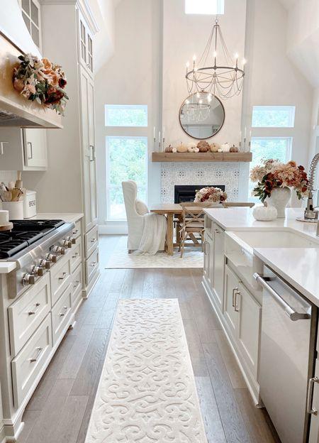 Kitchen decor, fall decor, home Inspo, chandelier, runner, rug, my Texas house, Walmart finds   #LTKunder100 #LTKhome #LTKunder50
