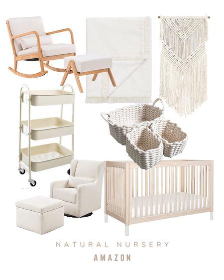 Natural dream cream nursery   #LTKbump #LTKhome #LTKbaby