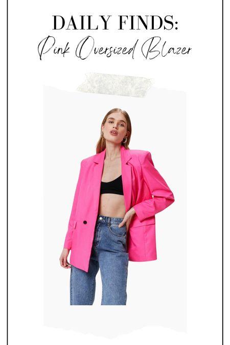 Pink oversized blazer, pink blazer, oversized blazer   #LTKstyletip #LTKunder100