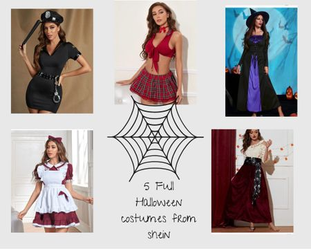 5 HALLOWEEN COSTUMES FROM SHEIN (some are similar)   Halloween, Halloween costumes, ootd fall, fall vibes, shein, costume ideas, affordable costumes   #LTKSeasonal #LTKHoliday #LTKfit