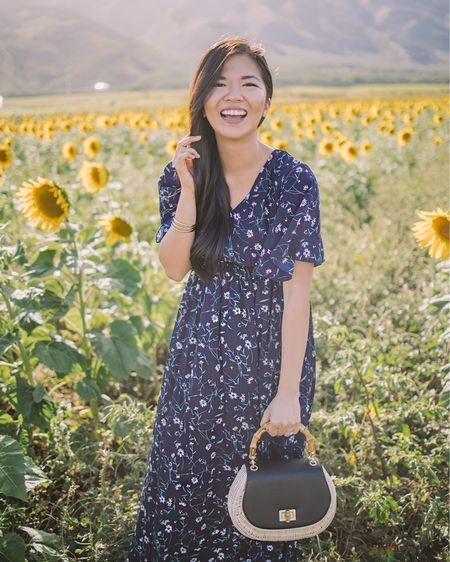 """This floral maxi dress is one of my favorites (I've worn two other versions of this dress — one in Honolulu and the other in Paris). It's only $25 and the perfect length for petite girls (I'm 5'2""""). @liketoknow.it http://liketk.it/2Boa3 #liketkit #LTKunder50 #LTKspring"""