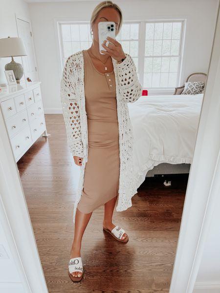 Pink lily, tank dress, midi dress, crochet cardigan use code stylecusp for 20% off! @liketoknow.it http://liketk.it/3hOQC #liketkit