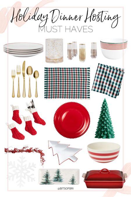 Holiday dinner hosting must have items.   Flatware. Dishes. Wine glasses. Serving dish. Christmas. Holidays. Dining must haves. Hosting must haves    #LTKHoliday #LTKSeasonal #LTKhome