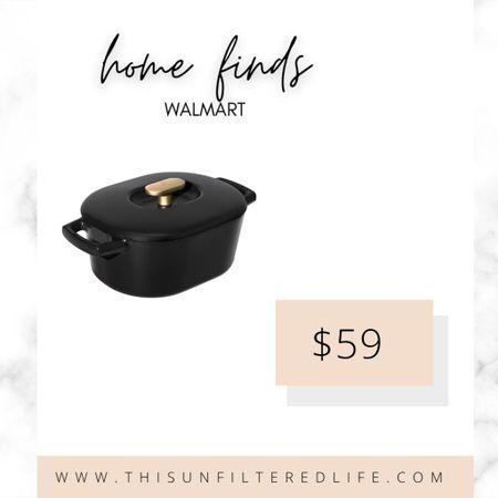Minimal kitchen  Black and gold kitchen tools for your neutral loving cook.  #dutchoven #DrewBarrymore    #LTKGiftGuide #LTKhome #LTKunder100