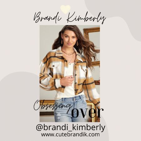 This crop plaid shacket style top is my favorite this week! So adorable and great for fall time   #LTKSeasonal #LTKbacktoschool #LTKunder50