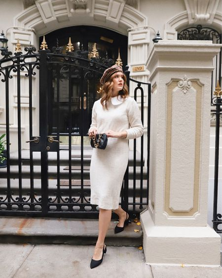 I brought a little bit of Paris back with me! While I was not ready to come home, coming back to autumn in New York has made the transition a bit easier. Living in this @target sweater dress as the temps drop and this $15 beret cannot be beat. Linking this look in the @shop.ltk app!