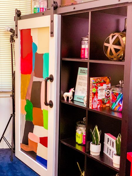 ✨ We made a thing! 😃 How to DIY a sliding barn 🚪 door tutorial!! 🖌🔩🎨📐 #BabyWhenWeGonSlide  👉🏾 Barn door kit from @amazon :  https://rstyle.me/+CCbTf-tNPgEeKY3a7MczzQ  👌🏾Barn door handle: https://rstyle.me/+ve5pLFRUdyKpQd61ylENXQ