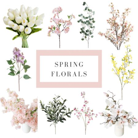 Need some spring florals to get you ready for the upcoming spring? Here are some great spring floral stems for your home. #spring #amazonfinds #spring florals #spring time #at home  #LTKhome #LTKSeasonal #LTKstyletip