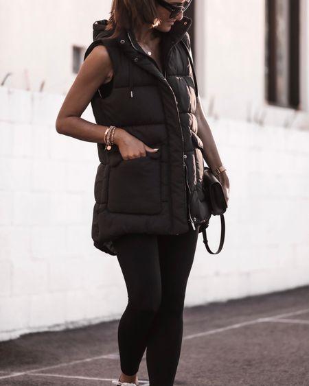 Wearing a size XS vest, runs big, athleisure style, leggings, vest, everyday style, accessories, StylinByAylin   #LTKSeasonal #LTKunder100 #LTKstyletip