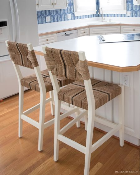 My kitchen counter stools are even prettier in person than I expected from their online pic! (home decor ideas)    #LTKhome