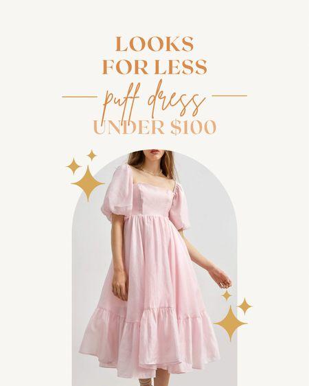 looks for less: puff dress under $100 ✨   #LTKwedding #LTKsalealert #LTKunder100
