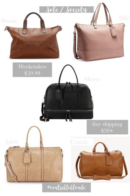 $59.99 vegan leather weekender bags from sole society. Free shipping   http://liketk.it/2TcBJ #liketkit @liketoknow.it #LTKsalealert #LTKitbag #LTKtravel
