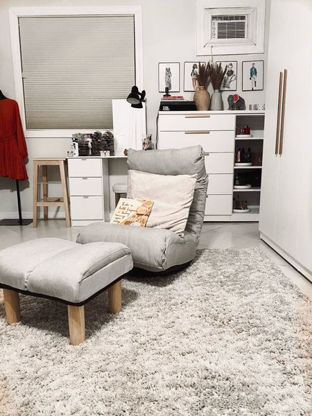 Shop the room. I love my closet room. I finally got a chair. It's awesome. This is my favorite room in the house from the closet space to my makeup vanity to my lounge chairs. I can't go wrong.   #LTKstyletip #LTKhome