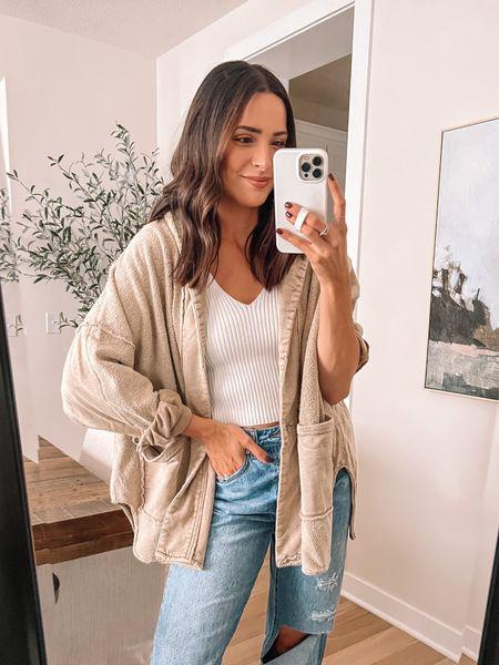 Forever 21 finds: Sherpa coat: true to size (S) Sweater tank: true to size (S)  Jeans: true to size, size up for looser fit (29) - Boots: true to size (use code TAYLOR15)   #LTKunder100 #LTKunder50 #LTKsalealert