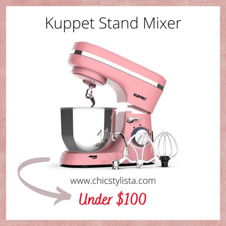 How cute is this pink Kuppet Stand Mixer, comes with a 4.7QT stainless steel bowl. This electric food stand mixer has 8-Speed. The price is incredible and the ratings are amazing on Amazon. @liketoknow.it http://liketk.it/2SBkY #liketkit #LTKunder100 #LTKhome