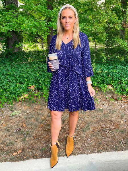 Fall dress. Booties. Amazon fashion. Hsn   #LTKSeasonal #LTKunder50 #LTKshoecrush