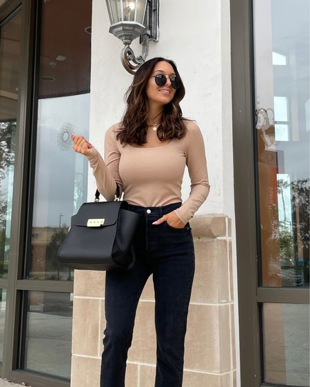 It's Monday and March 1st. Feels like a fresh start to me 🤩 Outfit linked on @liketoknow.it #liketkit http://liketk.it/39tPq  This bodysuit is the most comfortable thing in the world. #LTKstyletip #LTKunder50 #bodysuit #neutralstyle #neutralfashion #ootd