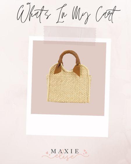 What's In My Cart - The Perfect Summer Bag ☀️  #whatsinmycart #rattanbag #summerbag #summerpurse #revolve #revolvestyle  #LTKitbag #LTKstyletip #LTKSeasonal