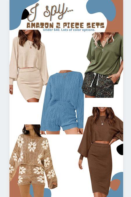 Amazon finds Amazon fashion Amazon 2 piece sets Sweater set Knit set   #LTKunder50 #LTKstyletip #LTKSeasonal