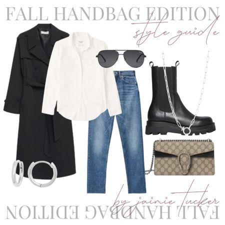 Check out how this style guide I put together for the Dionysus GG small shoulder bag. | #falloutfit  #trenchcoat #cheekyjeans #straightdenim #everlanejeans #poplintop #fallouterwear #fallboots #chelseaboots #combatboots #everydayoutfit #businesscasual #JaimieTucker  #LTKworkwear #LTKstyletip #LTKSeasonal