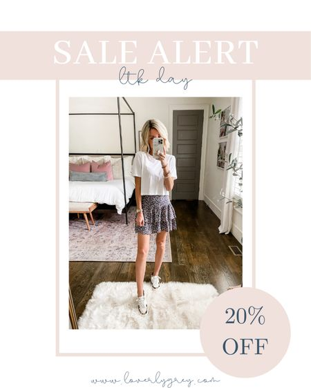 Love this sweet skirt and cropped tee combo for summer. Wearing a size small in both. Last day to shop the sale.   #LTKunder50 #LTKunder100 #LTKsalealert