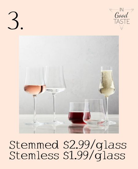 These wine glasses come stemmed and stemless and they are on sale with the champagne flutes!   #LTKhome #LTKsalealert #LTKunder50