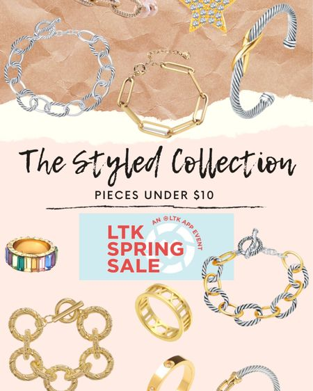 LTK spring sale - USE CODE LTK45 to get 45% off the style collection - pieces under $10! http://liketk.it/3cpQ2 #liketkit @liketoknow.it #LTKSpringSale #LTKsalealert #bracelets #jewelry