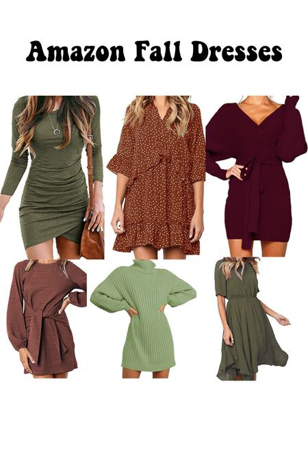 Fall dresses from Amazon! Must haves at great prices   #LTKSeasonal #LTKstyletip #LTKbacktoschool