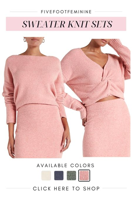 This sweater set looks soooo cozy and warm! It also looks like a sweater dress when it's paired together and can be dressed up or down for the office or lounging around the house :)  #LTKstyletip #LTKSeasonal #LTKHoliday