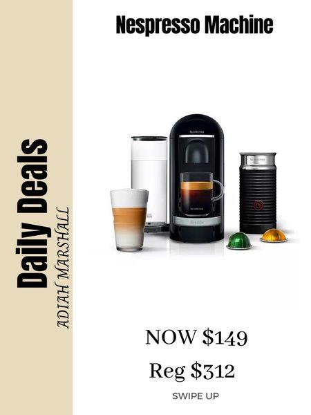 Favorite Coffee Machine!  Nespresso on SALE  ONLY $149 Linked my go to pods as well!!   #LTKSeasonal #LTKhome #LTKsalealert