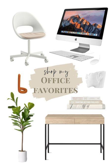 office essentials🤎 chair is ikea. iMac. home computer. desktop.  #LTKhome #LTKSeasonal #StayHomeWithLTK